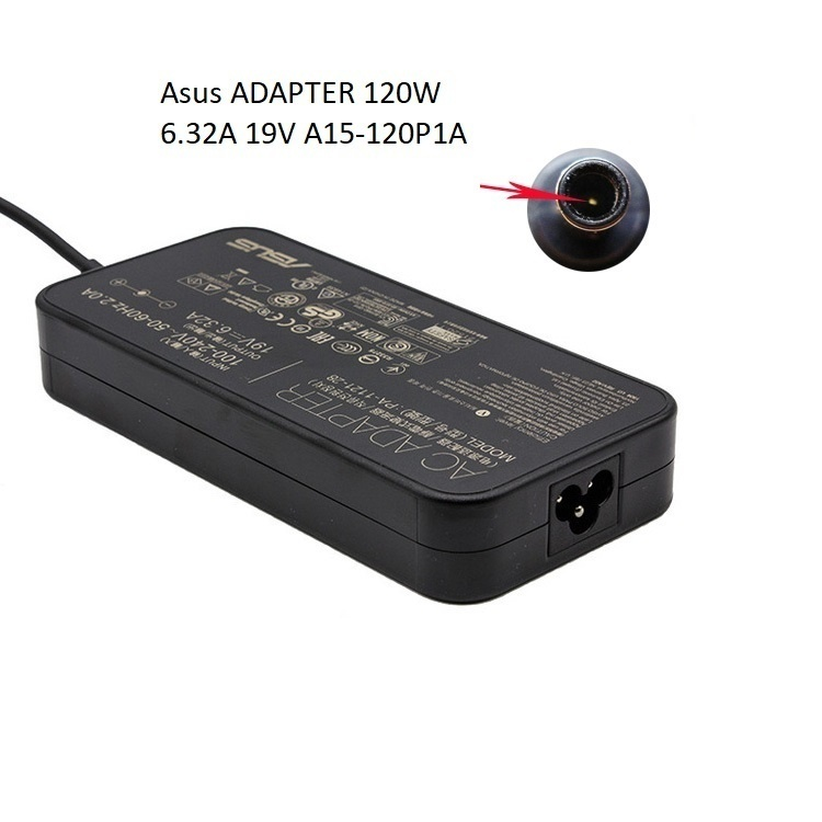 Asus ADAPTER 120W 19V-6.32A A15-120P1A,ADP-120RH,For TUF Gaming